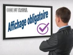 Affichage obligatoire pour les salariés